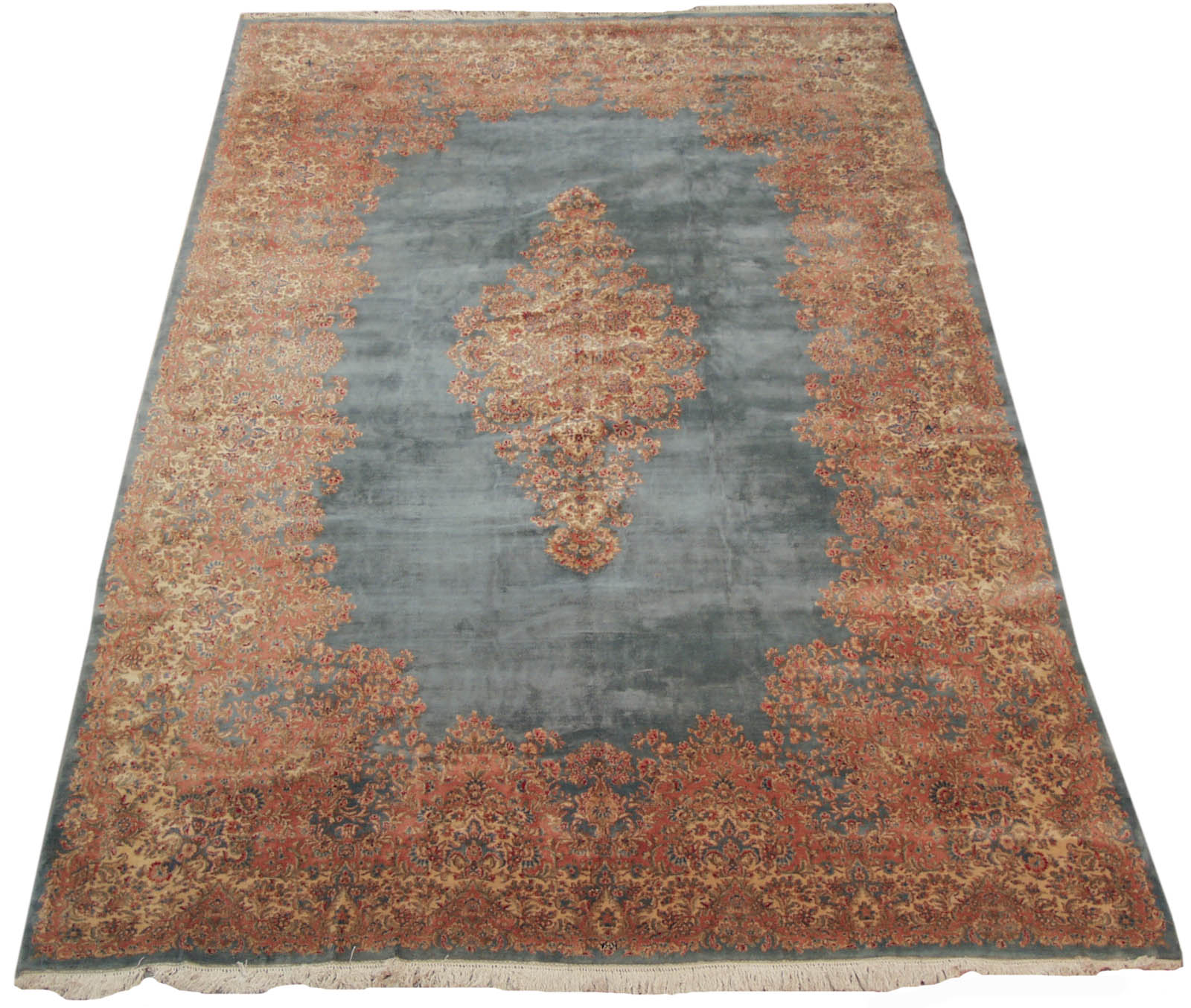 Rra 13x20 Persian Rug Kerman Carpet Light Blue 12170 Ebay
