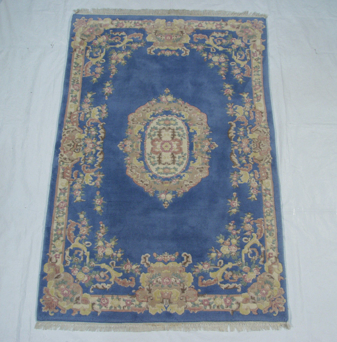 RRA 6x9 Indo French Aubusson Blue Rug 15110