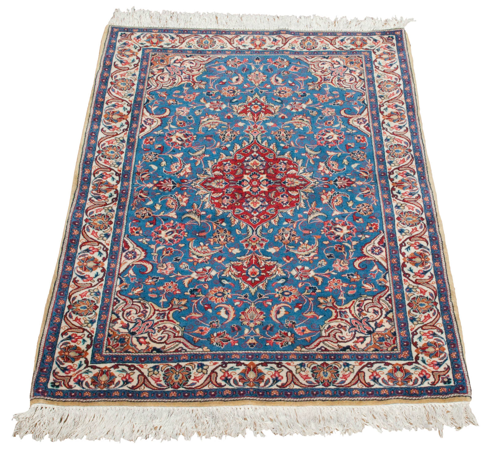 Unique Rich BLUE Persian Sarouk Rug