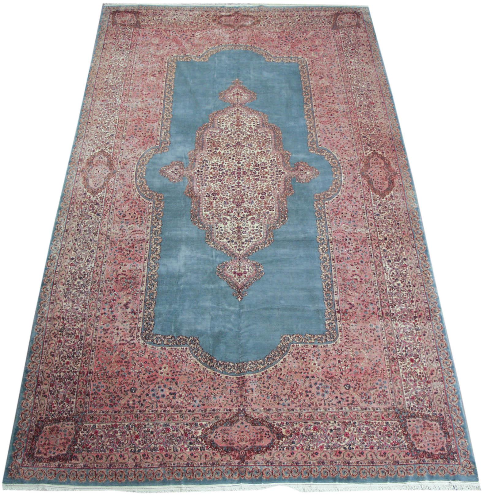 RRA 12x21 Persian Rug Kerman Carpet Lt Blue Rug 28485