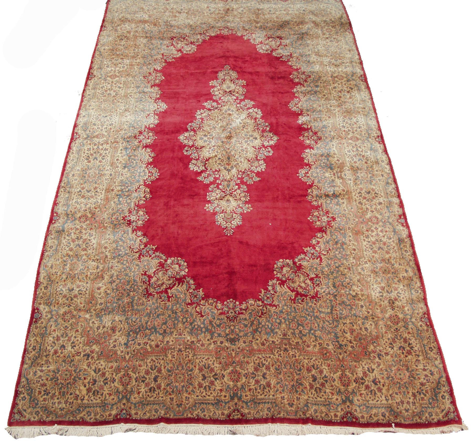 RRA 12x23 Persian Rug Kerman Carpet Rose Rug 12205